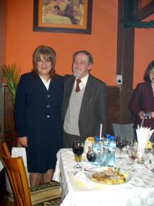 Учителят на всички поколения Пловдивски бохемисти доц. Янко Бъчваров и доц. д-р Жоржета Чолакова