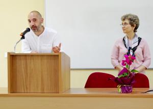 Органицзаторите на конференцията доц. д-р Красимира Чакърова и гл. ас. д-р Здравко Дечев