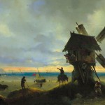 Ветряная мельница на берегу моря - 1837 год.