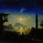 Лунная ночь в Крыму. Гурзуф - 1839 год.