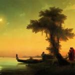 Вид на венецианскую лагуну - 1841 год.