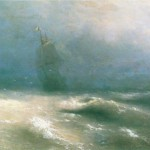 Буря у берегов Ниццы - 1885 год.
