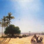 Караван в оазисе. Египет - 1871 год.