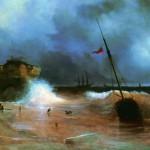 Конец бури на море - 1839 год.
